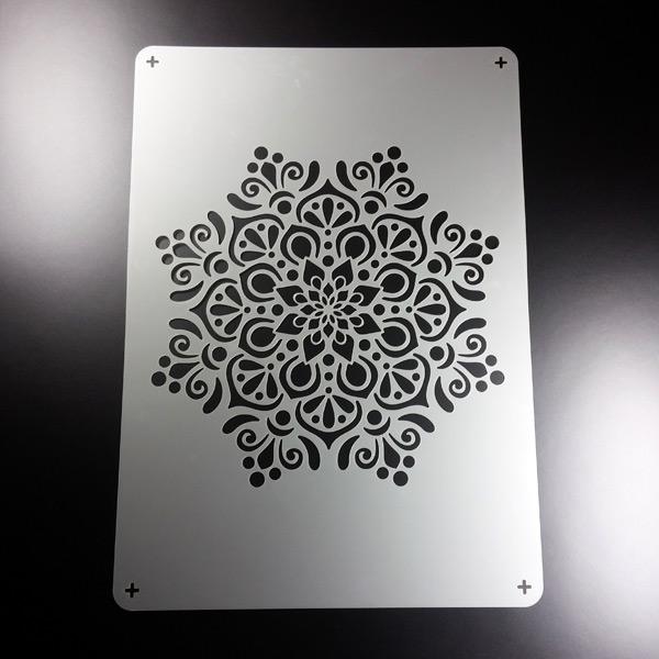A4 Schablone Mandala Orient Muster Stern Be482 Ebay